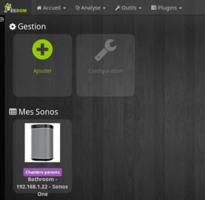 Sonos One Equipement