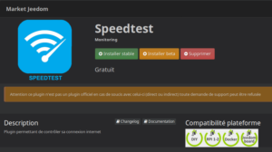 SpeedTest installation
