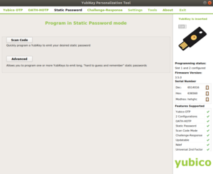 Yubikey NEO SP 1 300x246 - Paramétrer la Yubikey NEO avec le static password