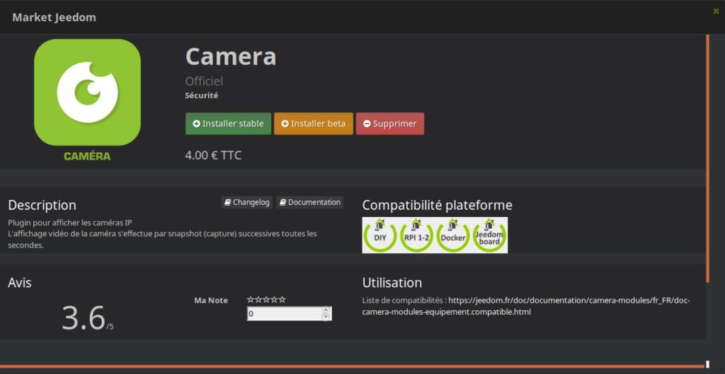 Caméra Jeedom Plugin 1024x529 - [TUTORIEL] Intégration d'une caméra dans Jeedom