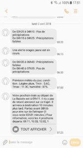 Free Mobile SMS exemple