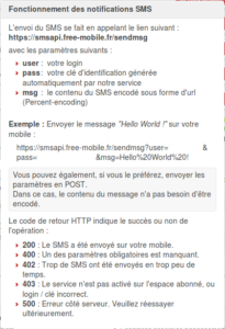 Free Mobile dash 3 205x300 - Notification SMS avec Jeedom et Free Mobile