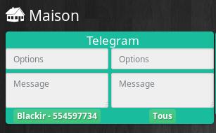Telegram dashboard - [TUTORIEL] Intégrer Telegram à notre Jeedom