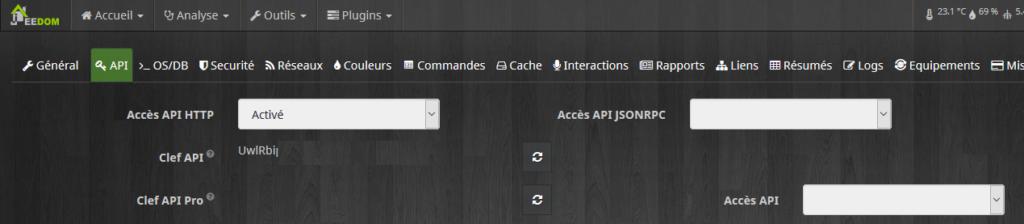 Jeedom API