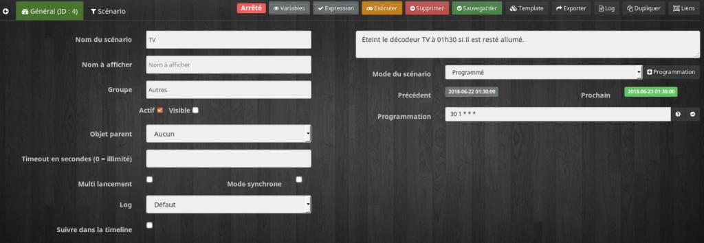 Orange TV Scenario1 1024x354 - [TUTORIEL] Piloter le décodeur Orange TV avec Jeedom
