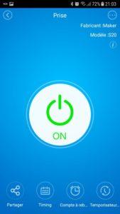 Sonoff S20 dash 3 169x300 - Piloter le Sonoff S20 avec l'application eWeLink