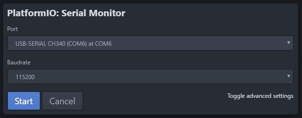 Platformio port serial monitor - Fabriquer son capteur température/humidité connecté