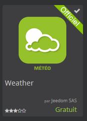 Prévisions météo Widget - [TUTORIEL] Prévisions météo avec Jeedom