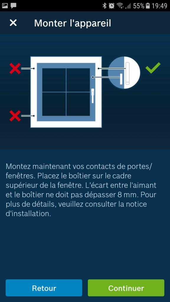 Détecteur d'ouverture connecté install 4