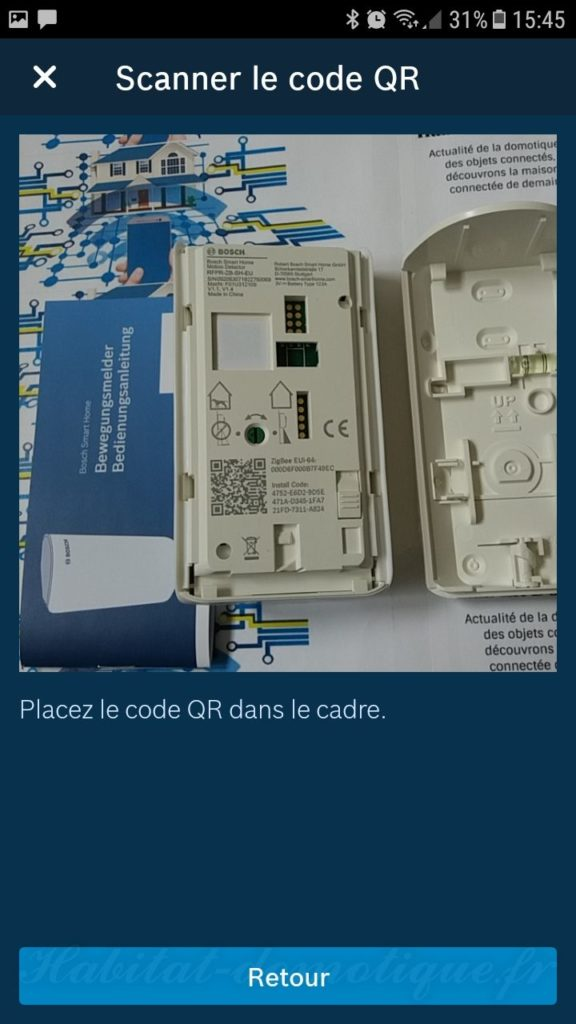 détecteur de mouvement Bosch install 02