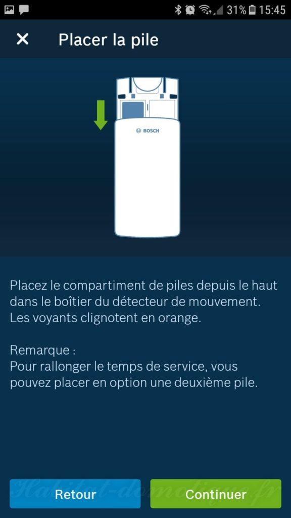 détecteur de mouvement Bosch install 03