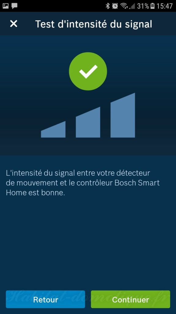 détecteur de mouvement Bosch install 10