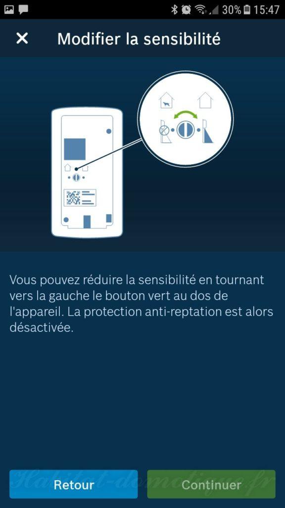 détecteur de mouvement Bosch install 13