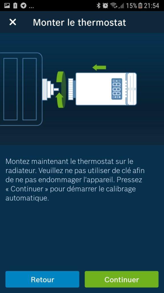 thermostat de radiateur Bosch install 08