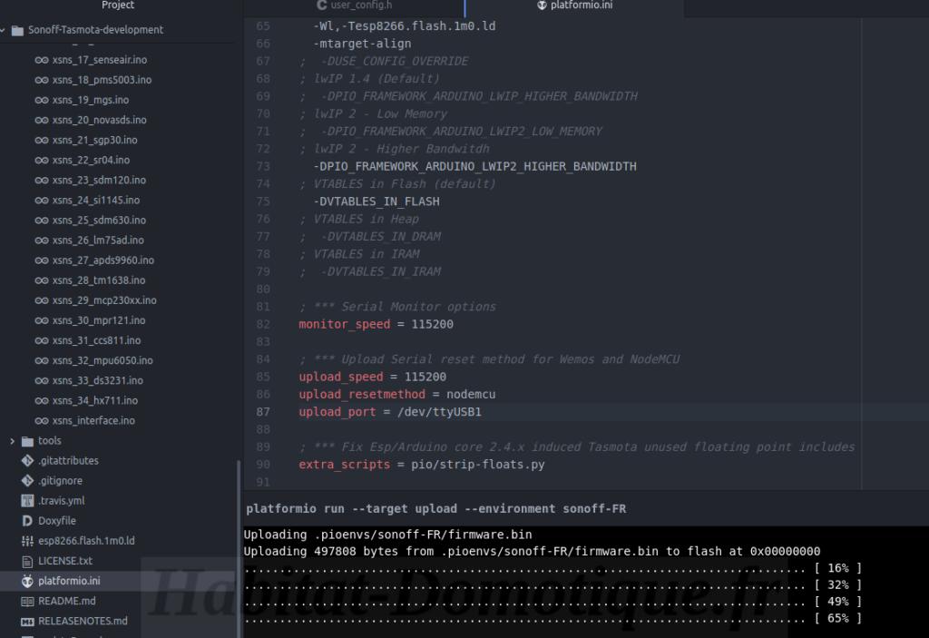 Reprogrammer Sonoff SC Firmware 02 1024x703 - Reprogrammer un Sonoff SC et l'intégrer à Jeedom