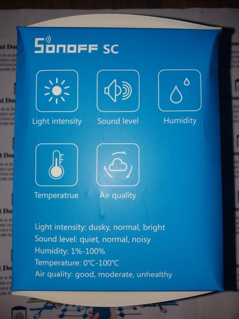Sonoff SC pres 02 768x1024 - Sonoff SC pour monitorer son environnement
