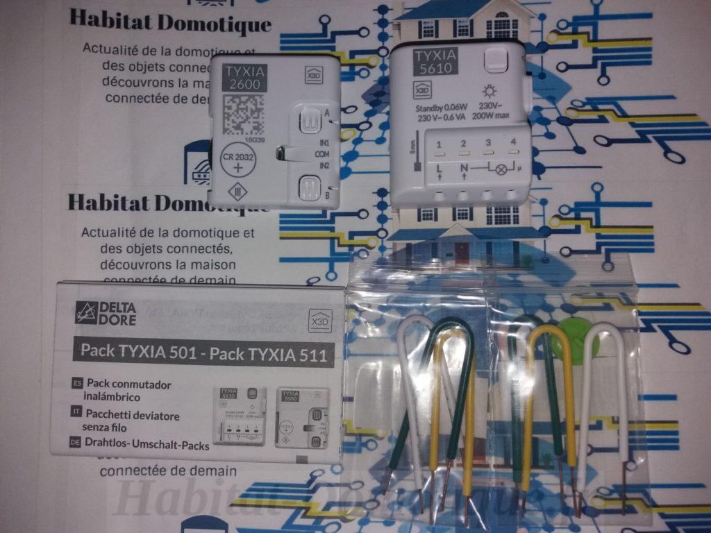 1 récepteur + 1 émetteur pile Pack TYXIA 501 va-et-vient éclairage