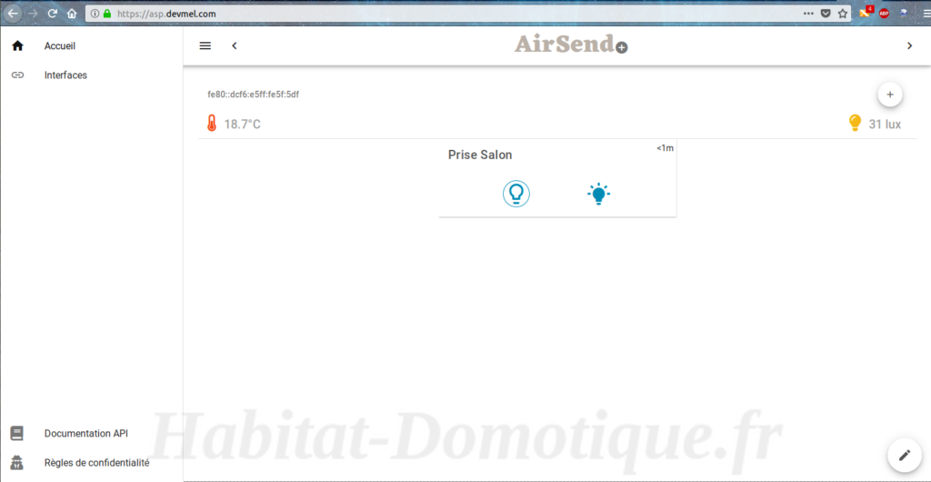 AirSend API 01 1024x530 - Test de la solution domotique AIRSEND de DEVMEL