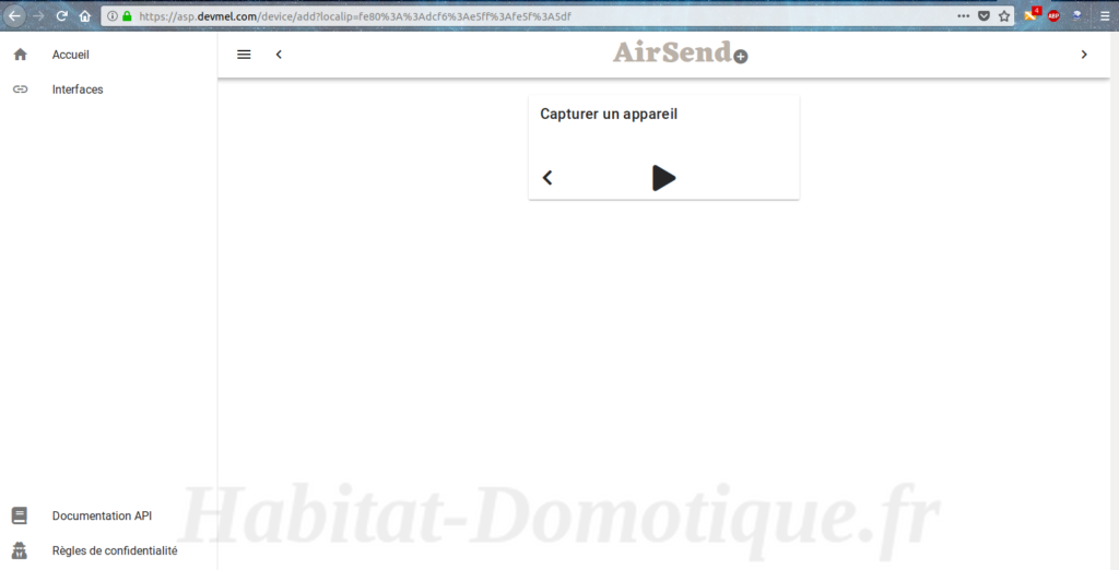 AirSend API 02 1024x522 - Test de la solution domotique AIRSEND de DEVMEL