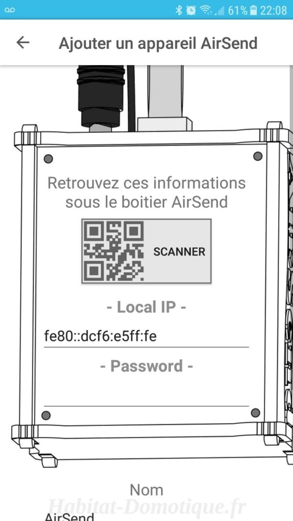AirSend Installation 01 576x1024 - Test de la solution domotique AIRSEND de DEVMEL