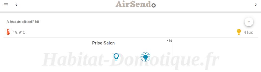 Box AirSend Dashboard 01 1024x285 - Associer notre box AirSend avec Jeedom