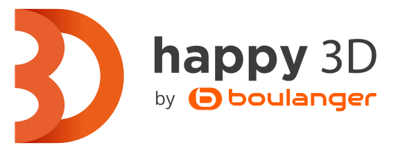 Happy 3D-Logo