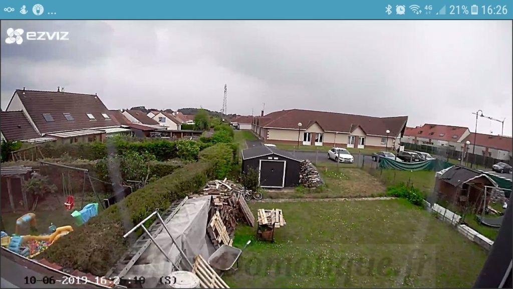 Camera EZVIZ C3A Utilisation 01 1024x576 - Test de la caméra extérieure sans fils EZVIZ C3A