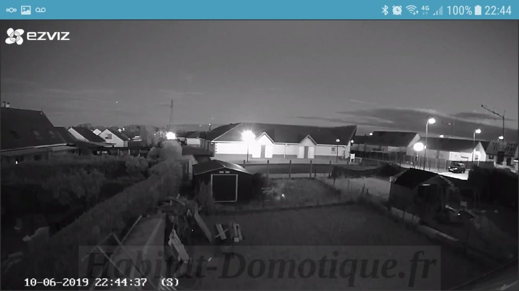 Camera EZVIZ C3A Utilisation IR 1024x576 - Test de la caméra extérieure sans fils EZVIZ C3A