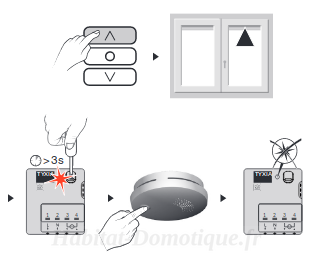 Détecteur fumée DFR Tyxal association 02 - Détecteur de fumée DFR Tyxal+ de Delta Dore