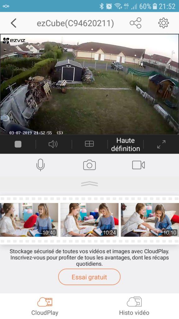 EZVIZ C2C mini O utilisation1 - Test de la caméra EZVIZ C2C mini O