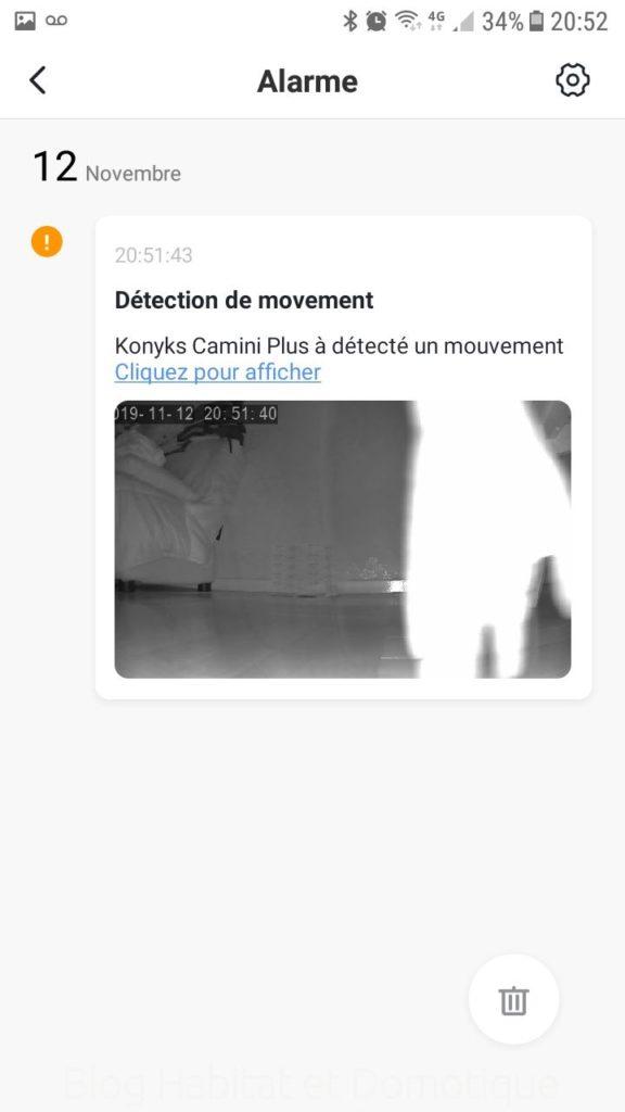 Caméra Konyks Camini Utilisation 02 576x1024 - Test de la caméra de surveillance Konyks Camini+