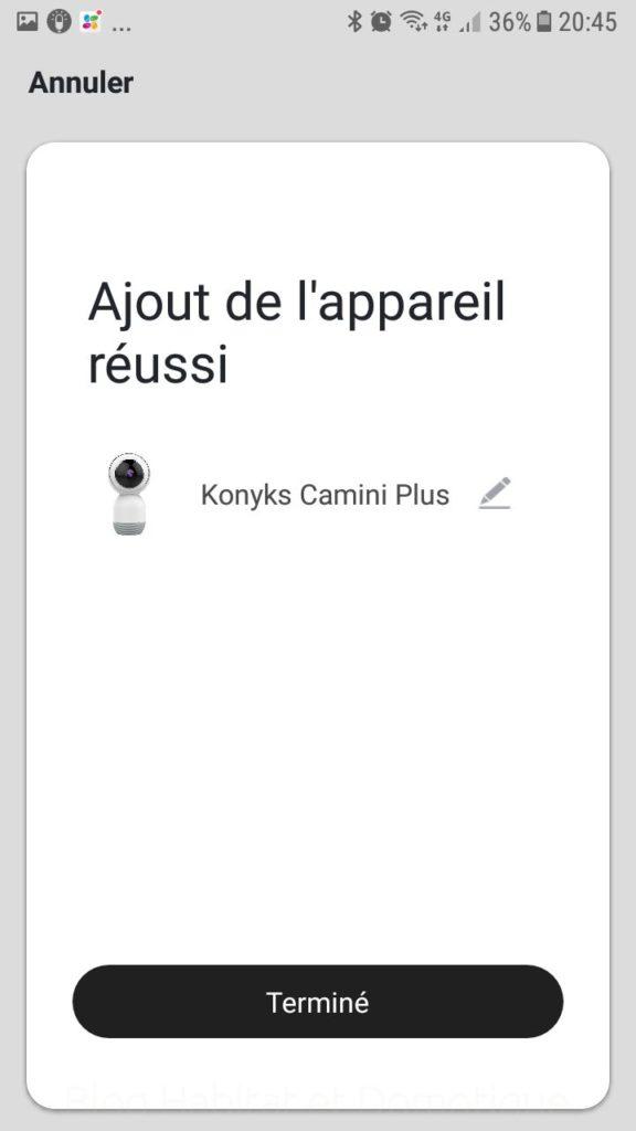 Caméra Konyks Camini Utilisation 11 576x1024 - Test de la caméra de surveillance Konyks Camini+
