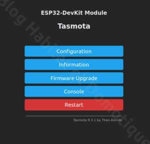 Tasmota ESP32 Camera 07 300x289 - ESP32 Caméra et Tasmota